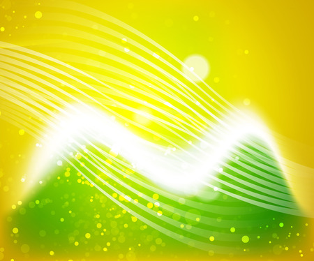Shiny wave, magicabstract background Illustration