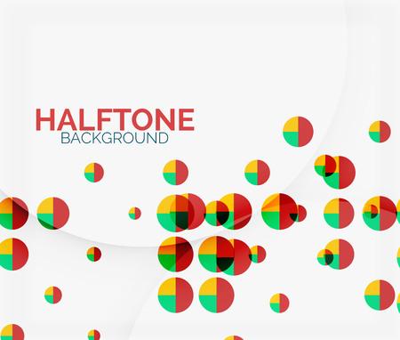 mesh: Halftone color texture background