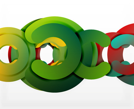 cut paper: Circle geometric abstract background, colorful business or technology design for web