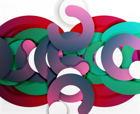 Circle geometric abstract background, colorful business or technology design for web