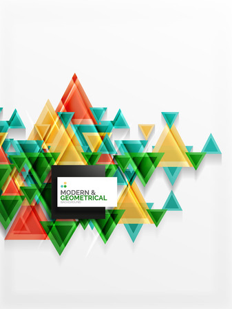 cut paper: Paper art style triangle pattern texture, abstract background