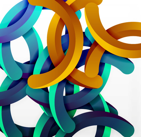 mesh: Modern 3d geometrical style background, arch circular lines Illustration