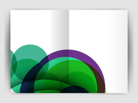 mesh: Abstract circles, annual report covers. Modern business brochure templates