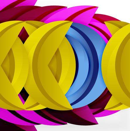 sinergia: 3D wave design illustration. Vectores