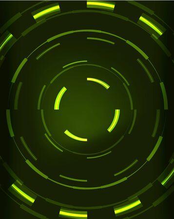 illuminate: Neon green circles vector abstract pattern background