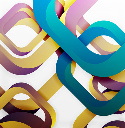 cut paper: Square vector background, 3d style overlapping geometric shapes with shadows on light backdrop