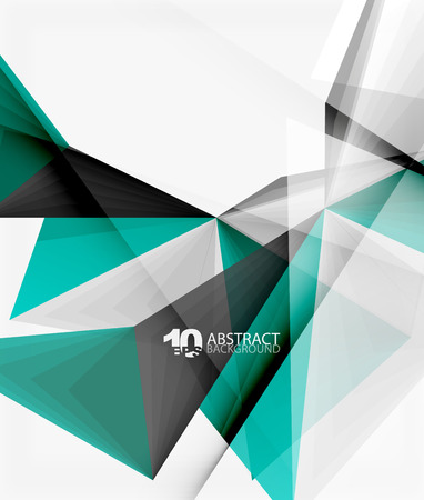 low energy: 3d triangle polygonal abstract vector Illustration