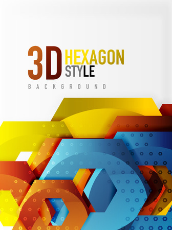 diamond texture: Vector 3d hexagon background
