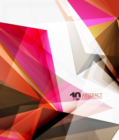 mesh: 3d triangle polygonal abstract vector, creative modern abstract background for text, presentation wallpaper Illustration