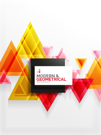 cut paper: Paper art style triangle pattern texture, abstract geometric background Illustration