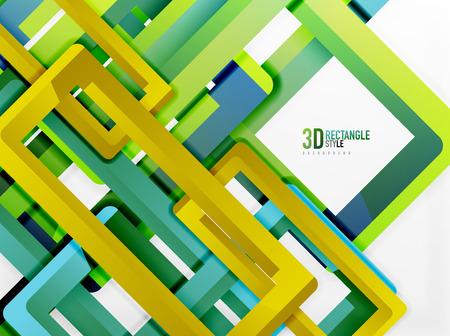 plastic conduit: Rectangle tube elements, vector 3d background