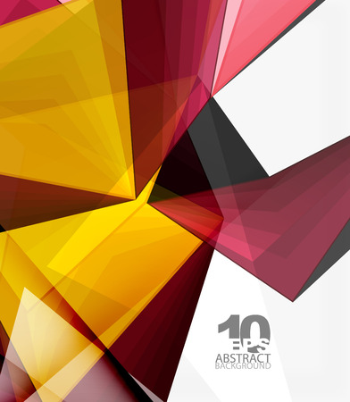 Low poly geometric 3d shape background