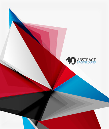 diamond texture: 3d triangle polygonal abstract vector Illustration