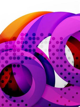 mosaic: Circle background design Illustration
