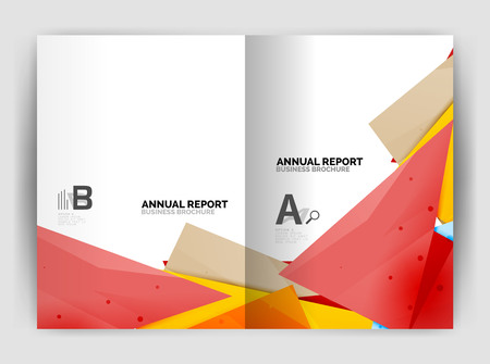 mosaic: Triangle business print template