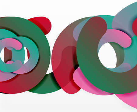 out of shape: Circle geometric abstract background, colorful business or technology design for web