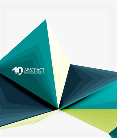 mesh: 3d triangle polygonal abstract vector Illustration
