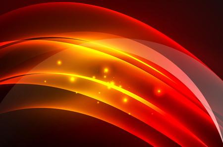 blurry: Vector glowing wave, smoke