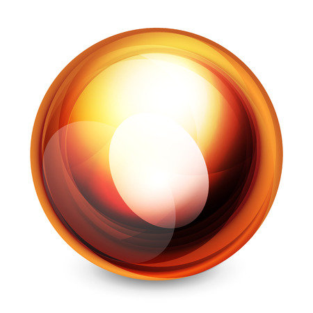 reflection in mirror: Glass sphere, futuristic abstract element