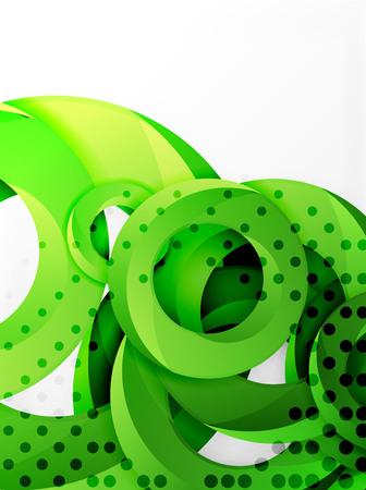rounded circular: Circle background design Illustration
