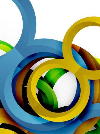 price development: Vector 3d rings design background