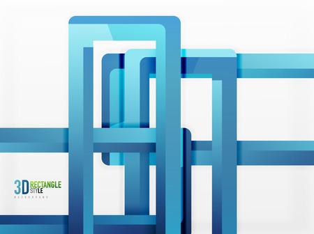 sewage: Rectangle tube elements, vector 3d background