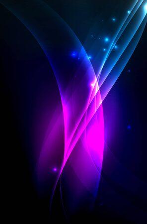 vitality: Smoky glowing waves in the dark