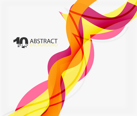 burning: Vector wave lines abstract background Illustration