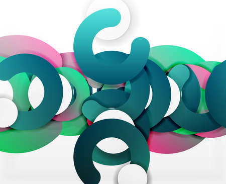 modern interior: Circle geometric abstract background, colorful business or technology design for web