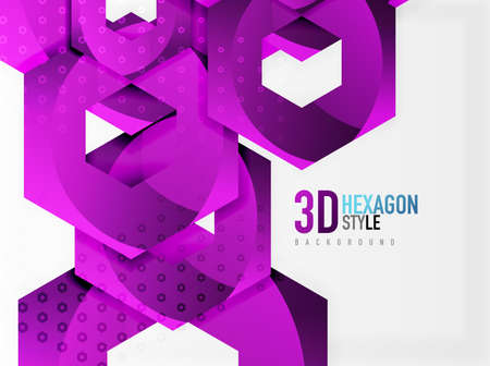 diamond texture: Vector - 3d hexagon background Illustration