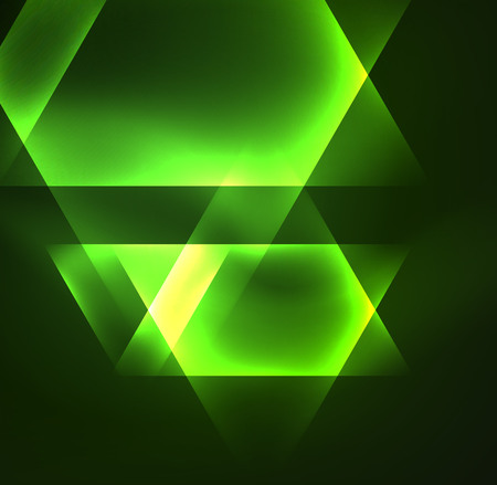 simple frame: Glowing geometric shapes in dark space background