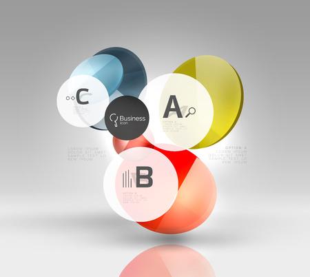 Glass circle infographics