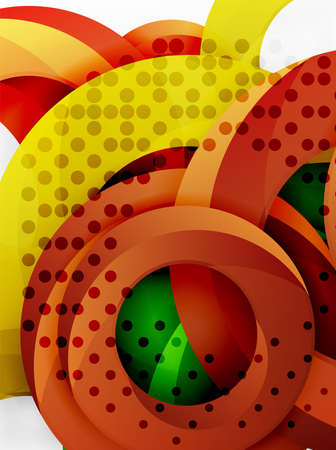smooth background: Circle vector background design with abstract swirls