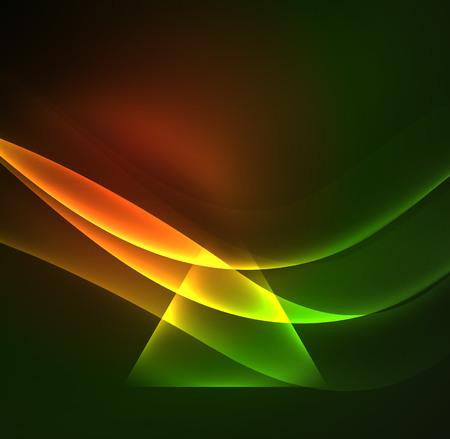 Glowing geometric shapes