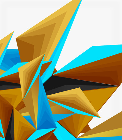 3d modern triangle low poly abstract shape, geometric vector