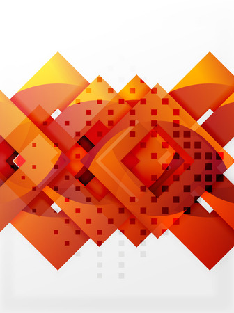 Vector square template background