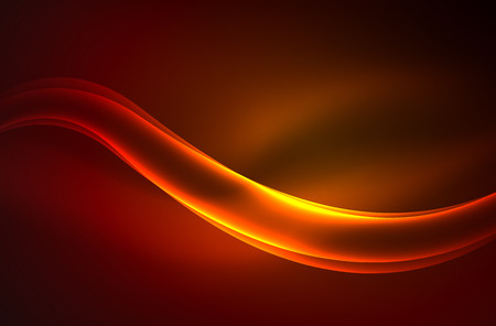 water wave: Vector glowing wave, smoke