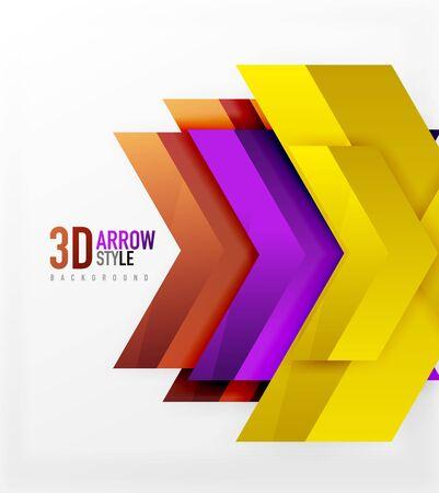 Techno arrow background