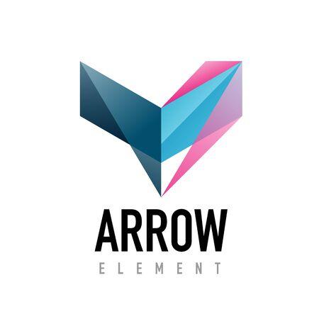 racing sign: Vector arrow geometric design