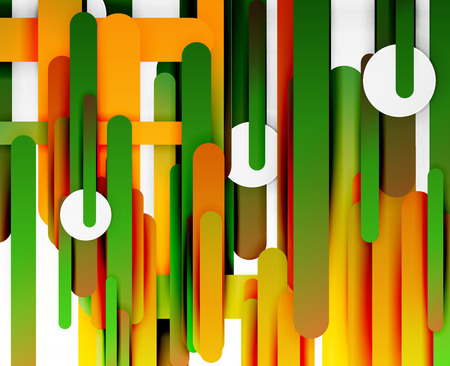 Cut paper color straight lines abstract.