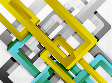 plastic conduit: Rectangle tube elements, vector background