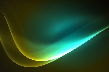 smoky black: Smoky glowing waves in the dark