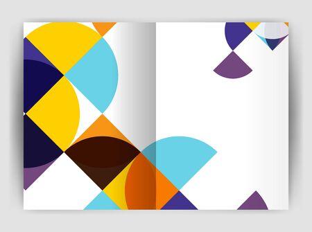 Zusammenfassung Kreis Design Business Jahresbericht Druckvorlage. Business-Broschüre oder Flyer abstrakten Hintergrund