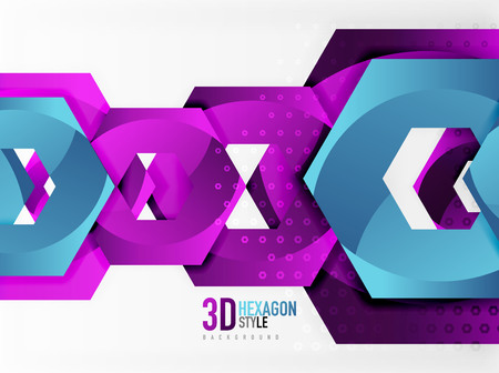 methane: Vector 3d hexagon background
