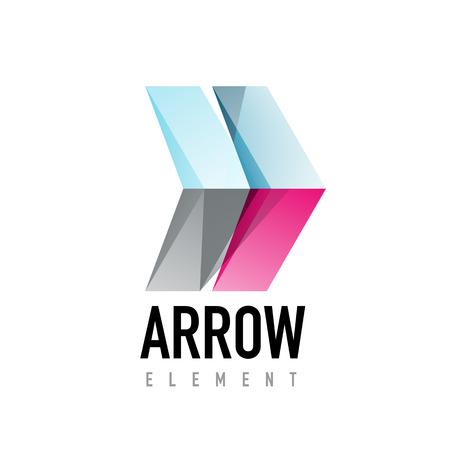 racing sign: Arrow geometric design.