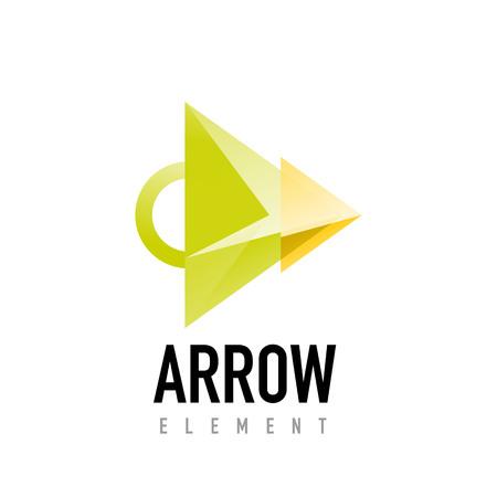 Arrow geometric design.
