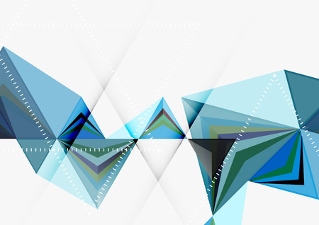 Triangular low poly size geometric abstract template.