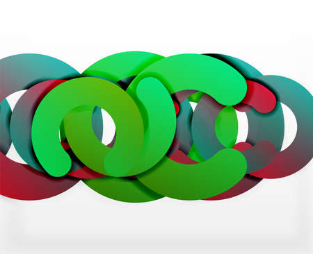 circle geometric abstract pattern colorful business or technology