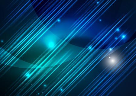 Glühende futuristische Linien