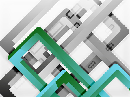 aluminum: Rectangle tube elements, vector background